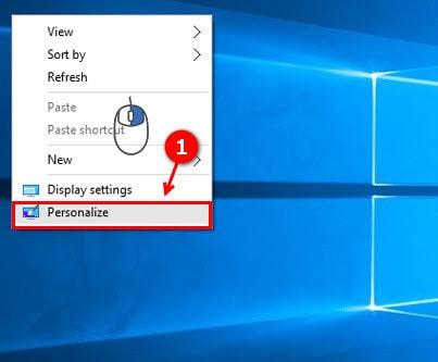 hien thi control panel tren desktop windows 10