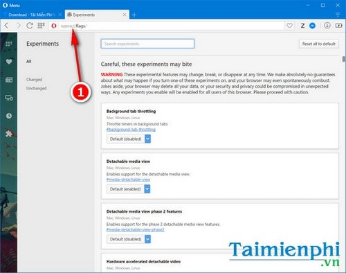 Kích hoạt tự động tải lại trang, reload lại trang trên Opera sau mất mạng