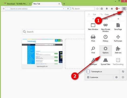 Mặc định mở tab vừa đóng, khôi phục tab vừa đóng khi mở Firefox