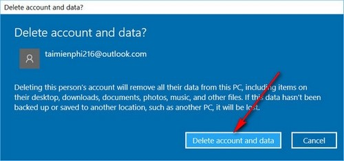 Tạo và xóa user, tài khoản người dùng mới trên Windows 10