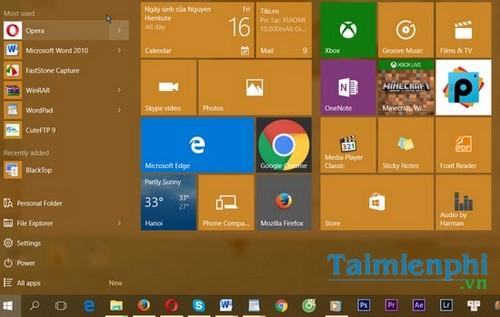 Thay đổi kích thước thanh Taskbar trên Windows 10 8