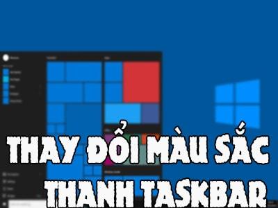 thay doi mau sac thanh taskbar tren windows 10