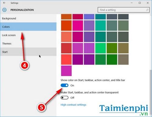 Thay đổi màu sắc, làm trong suốt Taskbar trên Windows 10 3