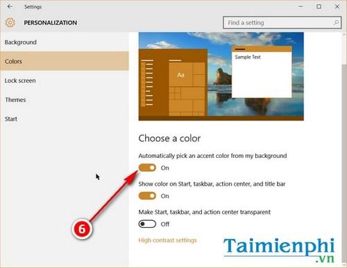 Thay đổi màu sắc, làm trong suốt Taskbar trên Windows 10 4