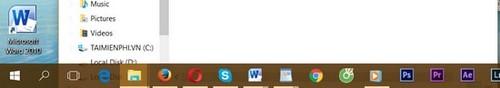 Thay đổi màu sắc, làm trong suốt Taskbar trên Windows 10 7