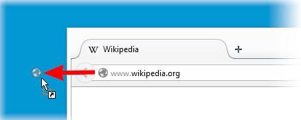dua trang web Firefox ra man hinh desktop