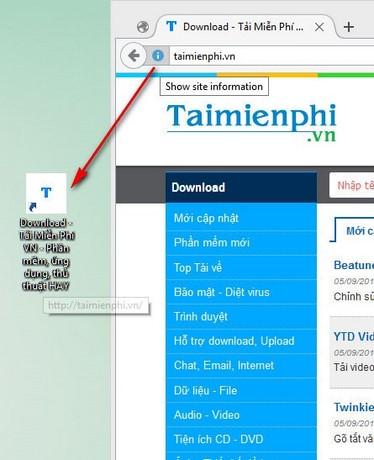 Truy cập trang web trên Firefox ngay từ màn hình desktop
