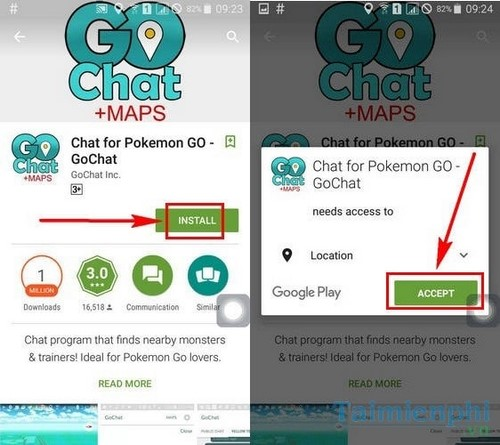 chat trong pokemon go