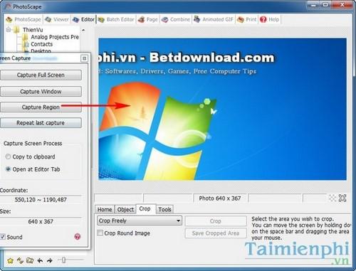 Chụp ảnh màn hình máy tính bằng PhotoScape