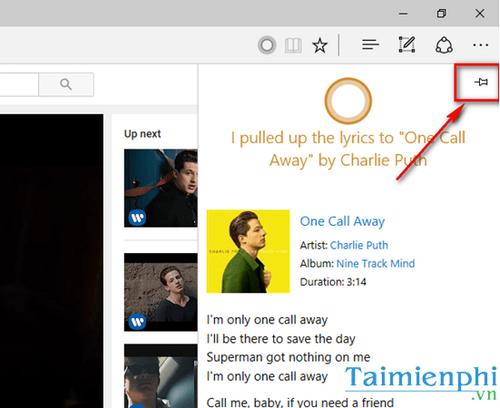 Hiển thị lời bài hát Youtube trên trình duyệt Microsoft Edge