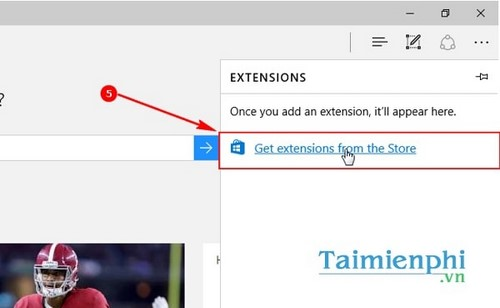 Thêm Extension cho Microsoft Edge Windows 10