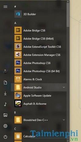 Tùy chỉnh Start Menu, Tùy biến giao diện Start Menu trên Windows 10 19