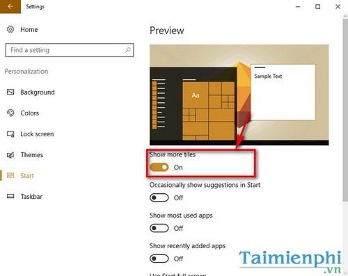 Tùy chỉnh Start Menu, Tùy biến giao diện Start Menu trên Windows 10 3