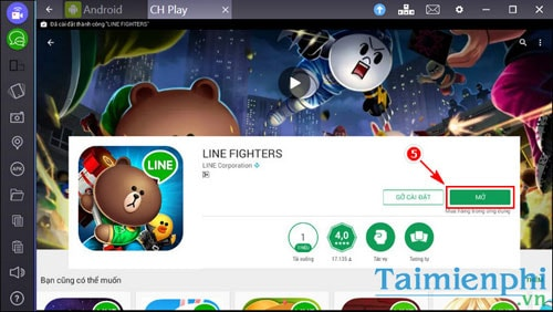 choi game Line Fighters tren bluestacks