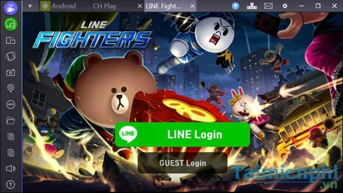 choi game Line Fighters tren gia lap android