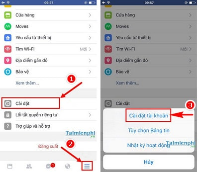 xoa tai khoan facebook tren iphone