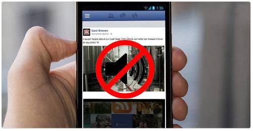 tat am thanh video facebook tren iphone