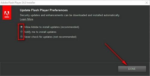 Cách cài Flash Player, setup Adobe Flash Player trên máy tính, laptop 4