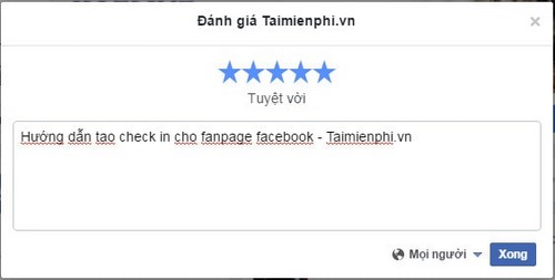 cach them dia diem check in page facebook