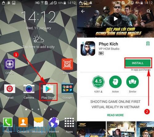 choi game phuc kich tren android