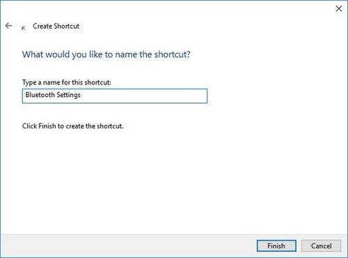 tao shortcut settings win 10