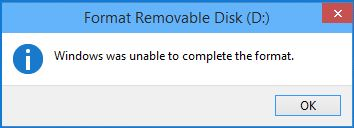 Sửa lỗi USB Windows was unable to complete the format, lỗi usb không thể format