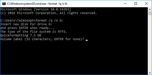 Sửa lỗi USB Windows was unable to complete the format, lỗi usb không thể format 10