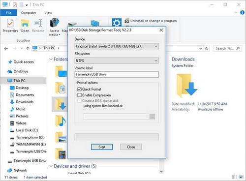 Sửa lỗi USB Windows was unable to complete the format, lỗi usb không thể format 5