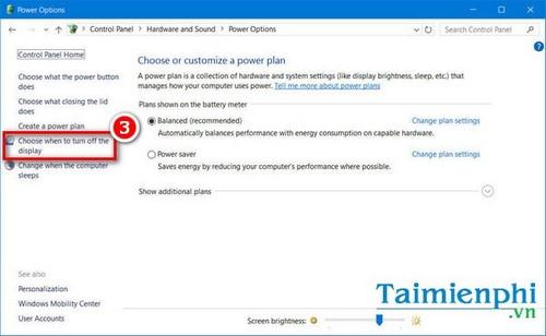 Cách chỉnh thời gian tắt màn hình Win XP/7/ 8/ 8.1/ 10 nhanh nhất.  6