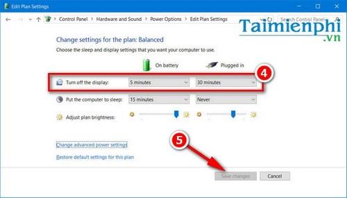 Cách chỉnh thời gian tắt màn hình Win XP/7/ 8/ 8.1/ 10 nhanh nhất.  7