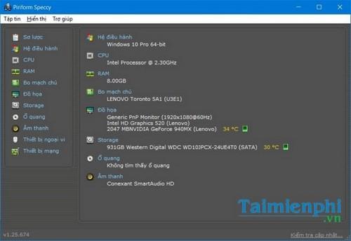 Kiểm tra cấu hình máy tính win 10, check cấu hình máy tính win 10 12