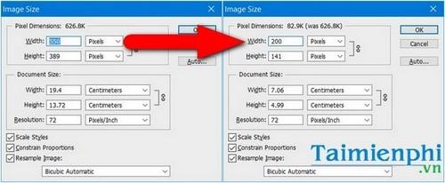 Đổi kích thước ảnh trong Photoshop 2020 hiệu quả