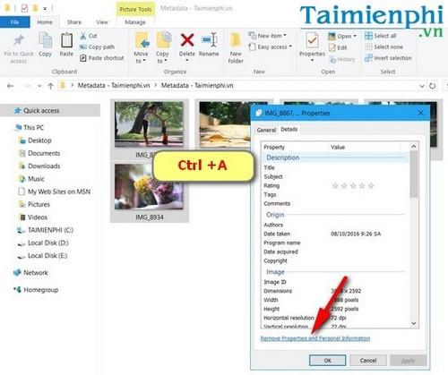 Cách xóa bỏ Metadata từ những hình ảnh trên máy tính