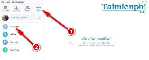 tim ban zalo tren may tinh thong qua facebook