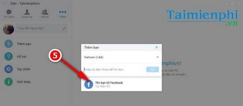 tim ban zalo thong qua facebook