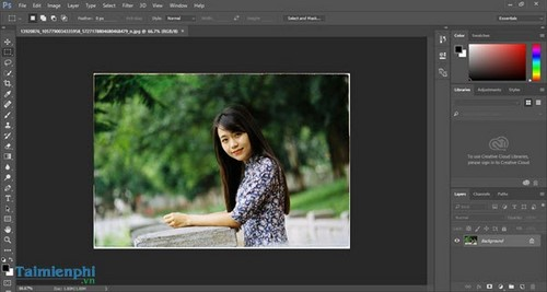 lam net anh bang photoshop online