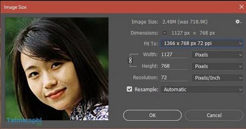 Cách làm nét ảnh bằng Photoshop, tăng độ nét cho ảnh mờ 2