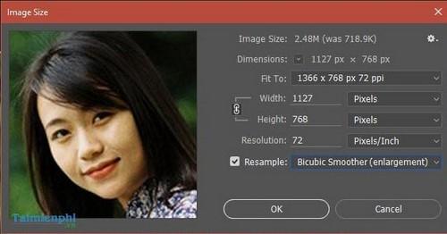 Cách làm nét ảnh bằng Photoshop, tăng độ nét cho ảnh mờ 3
