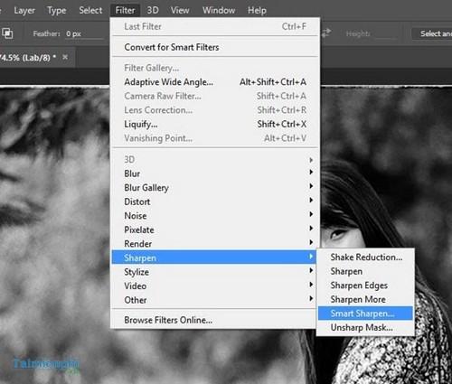 Cách làm nét ảnh bằng Photoshop, tăng độ nét cho ảnh mờ 8