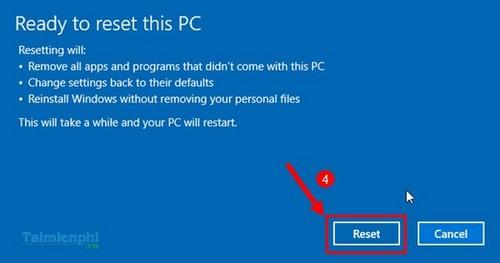 cach reset windows 10 ve trang thai ban dau
