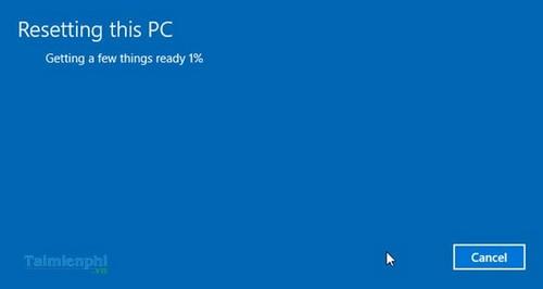 thiet lap lai windows 10 ve trang thai ban dau