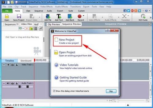 Tạo phụ đề cho video bằng VideoPad Video Editor