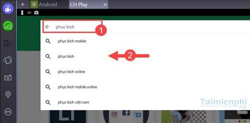 choi phuc kich tren desktop