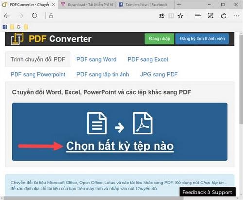 doi pdf sang word truc tuyen