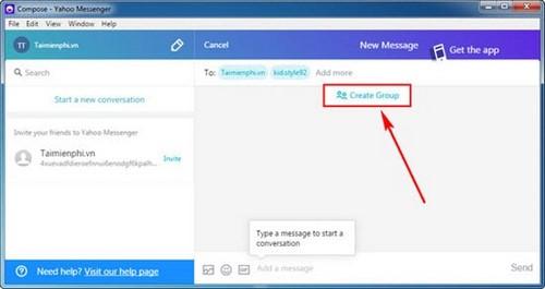 chat nhom trong yahoo messenger
