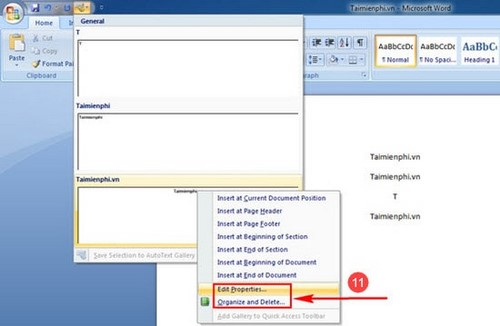 how to create autotext in word 2007