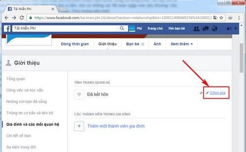 Cách chuyển trạng thái đã ly thân trên facebook