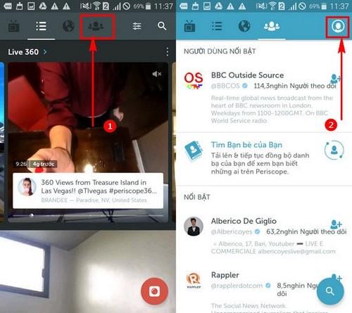 Cách tắt tự động mở video trên Periscope, ngừng phát video tự động trên Periscope