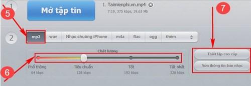 Chuyển MP4 sang MP3 online với Audio Converter