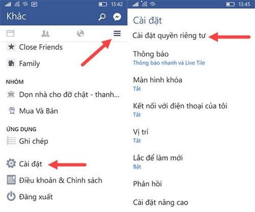 Đăng xuất Messenger, thoát Facebook Messenger trên iPhone, Android, Windows Phone 13